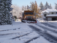 Snow Plow Plowing Streets