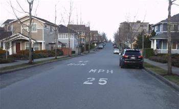 25 mph pavement markings